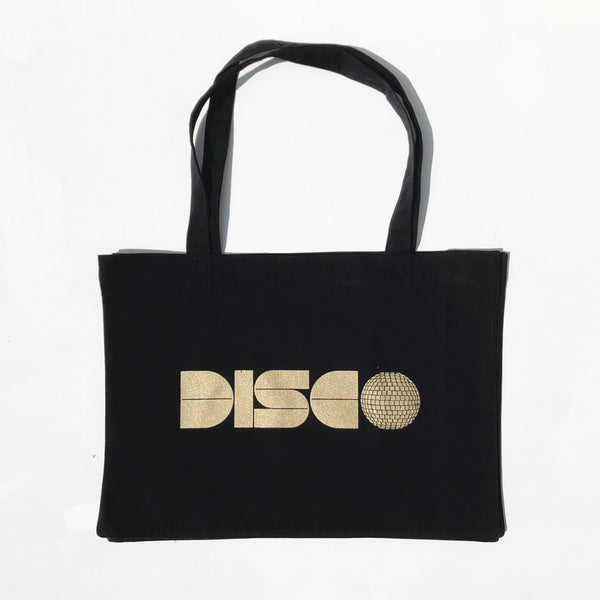Disco Large Black Bag Gold