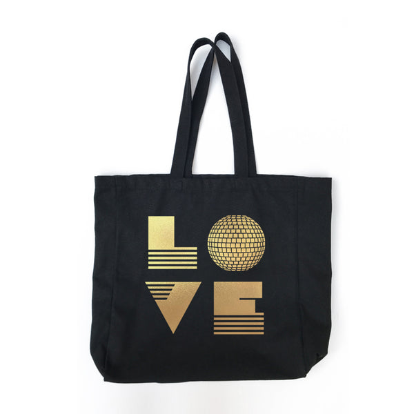 Love Is  Large Black Bag
