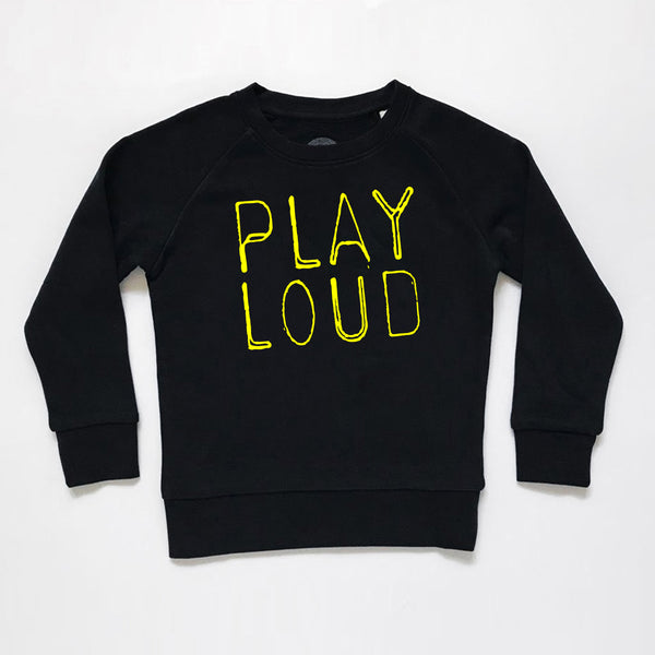 Play Loud Kids Sweatshirt Black xx 5-6yrs xx