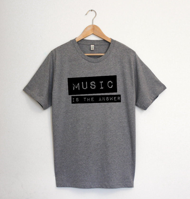 Music Is The Answer Mens Marl Grey