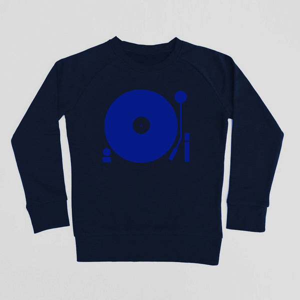 Turntable Kids Sweatshirt Navy / Blue