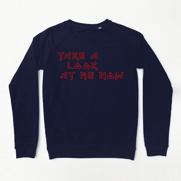 Take A Look At Me Now Ladies Navy Sweatshirt