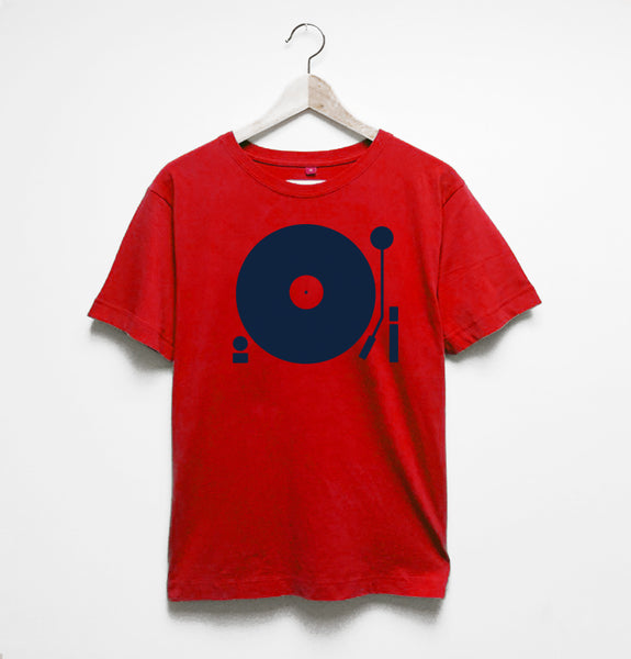 Turntable Mens Red Tshirt