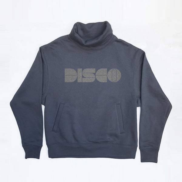 Disco Roll Neck Sweatshirt With Pockets Petrol
