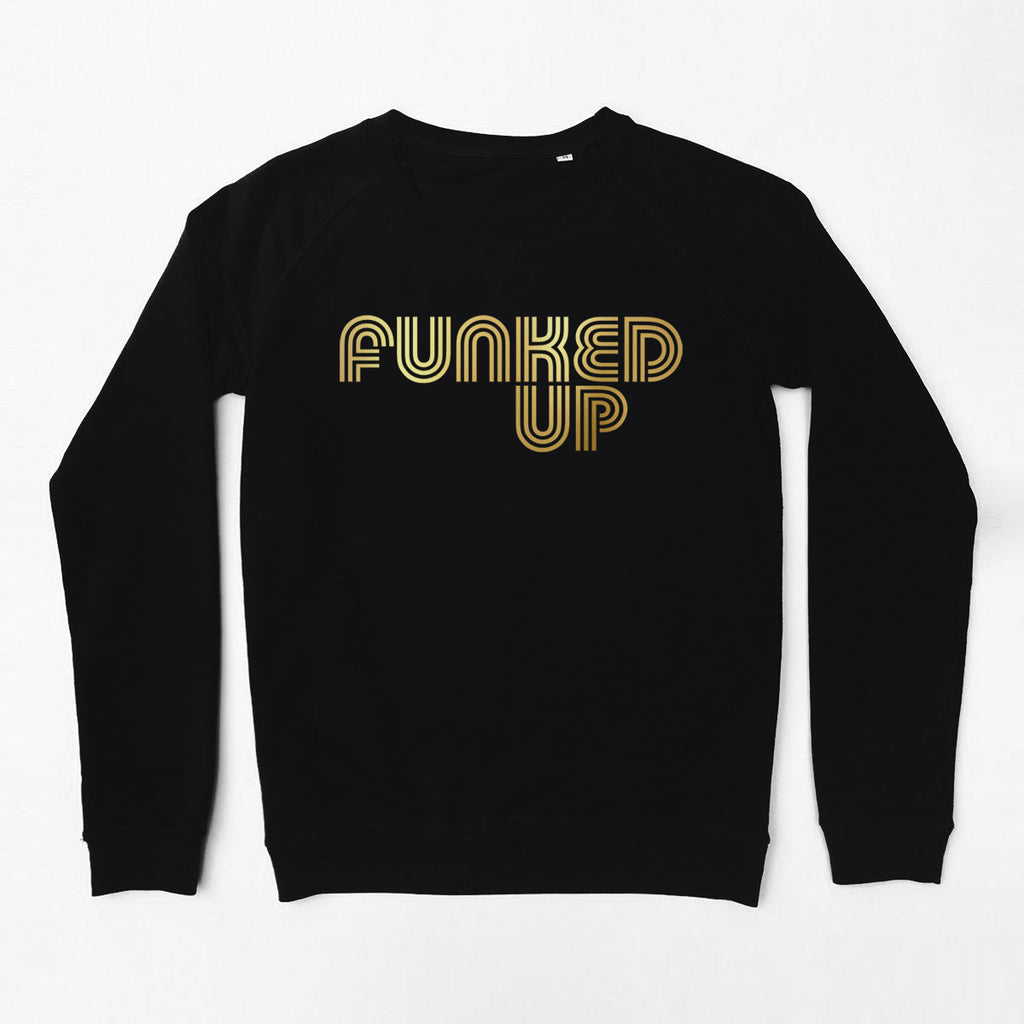 Funked Up Ladies Sweatshirt Black Ltd