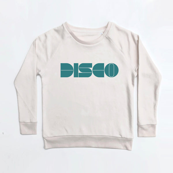 Disco Ladies Vintage White Sweatshirt