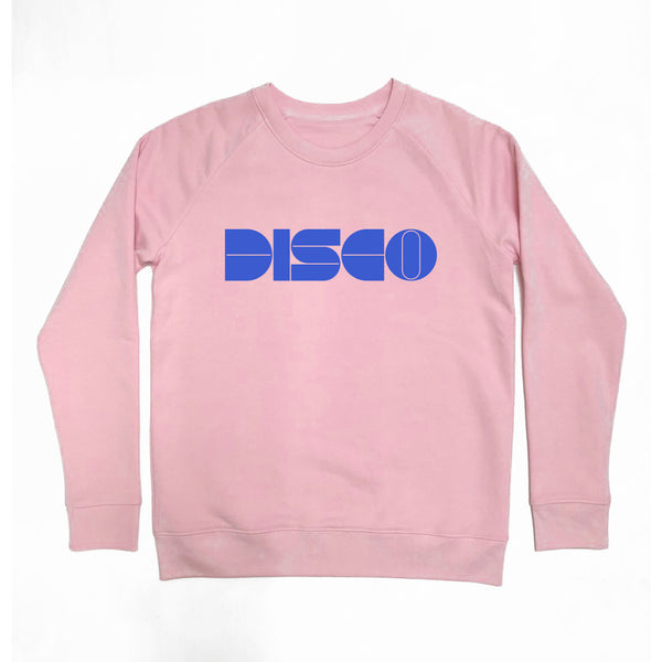 DISCO Ladies Sweatshirt Slim Fit Pale Pink
