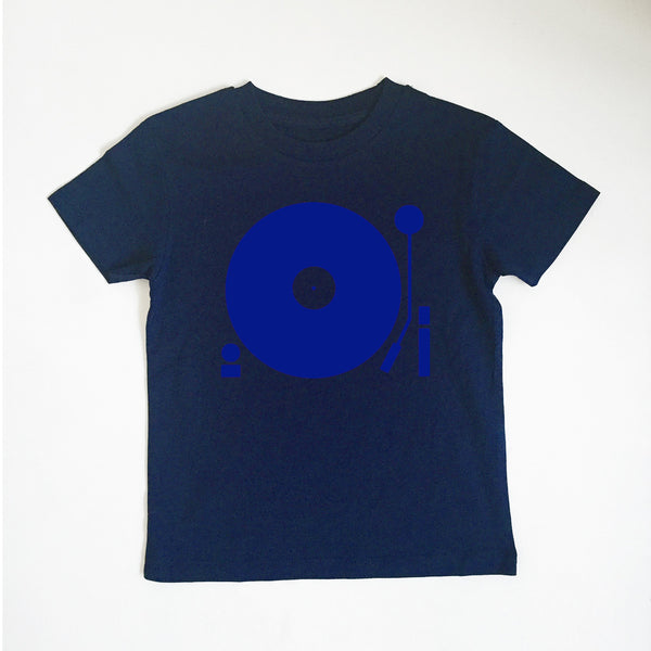 Turntable Kids T-shirt Navy / Blue