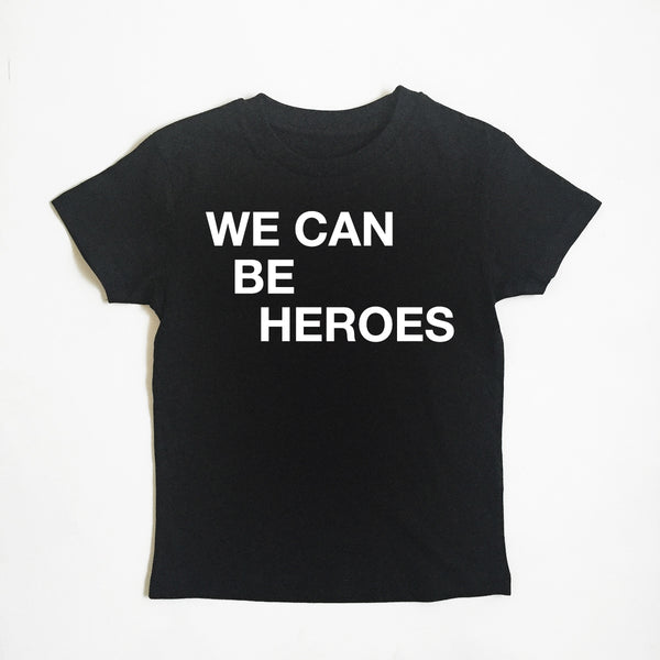 We Can Be Heroes Black xx 0-6 & 7-8 yrs left xxx