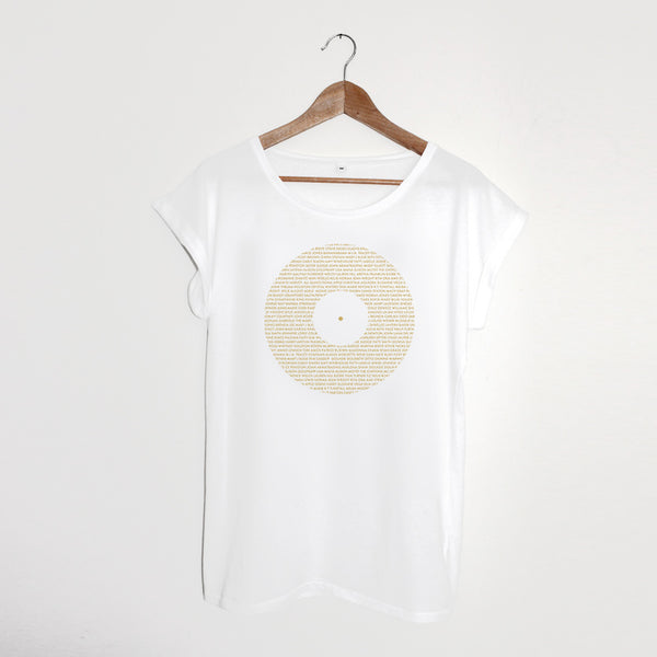 Record Ladies White xx size L left xx