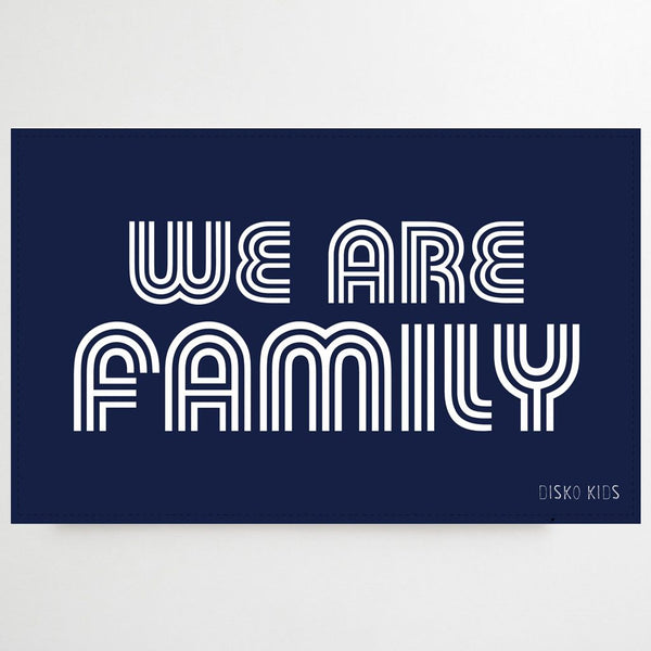 We Are Family Tea Towel Navy