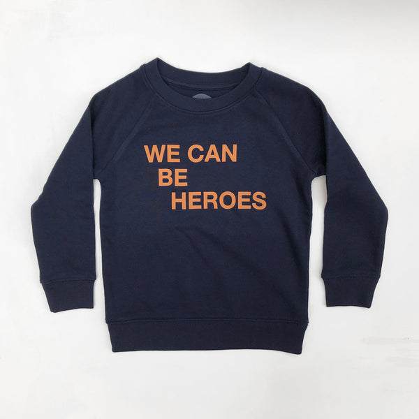 We Can Be Heroes Kids Sweatshirt Navy *5-6 & 7-8 left