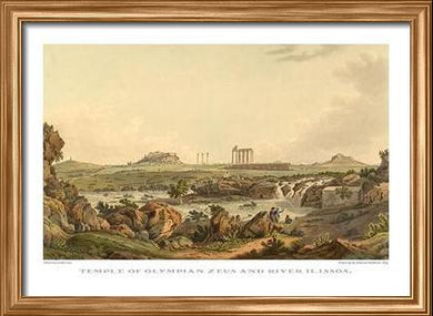 Edward Dodwell: Temple of Olympian Zeus and River Ilissos