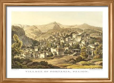 Edward Dodwell: Village of Portaria, Pelion