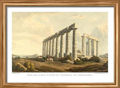 Edward Dodwell: South-east of Temple at Sounion
