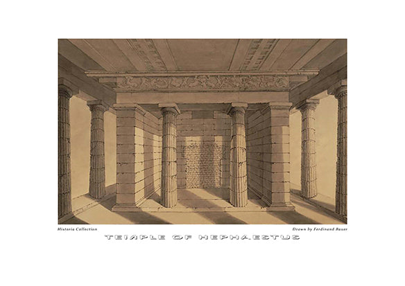 Ferdinand Bauer: Temple of Hephaestus-Ariston Books