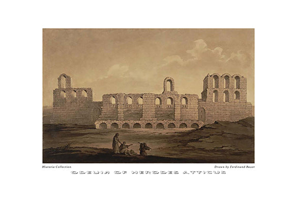 Ferdinand Bauer: Odeum of Herodes Atticus-Ariston Books