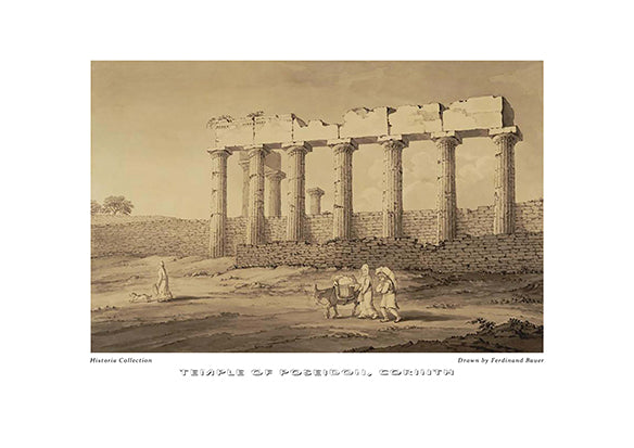 Ferdinand Bauer: Temple of Poseidon, Corinth-Ariston Books