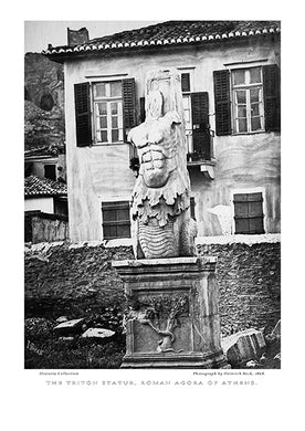 Heinrich Beck: The Triton statue, Roman Agora of Athens-Ariston Books