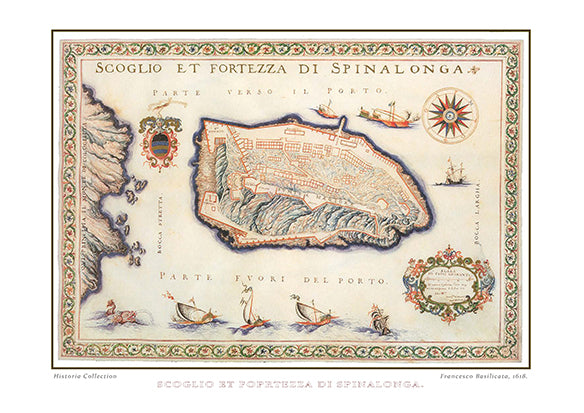 Francesco Basilicata: Scoglio et Fortezza di Spinalonga-Ariston Books