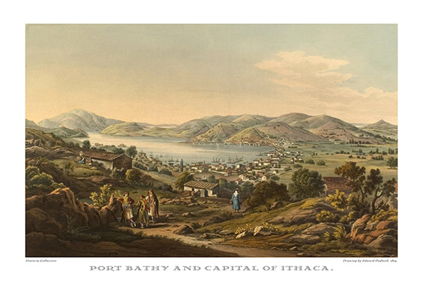 Edward Dodwell: Port Bathy and capital of Ithaca- Ariston Books