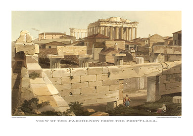 Edward Dodwell: View of the Parthenon from the Propylaea-Ariston Books