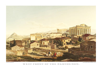 Edward Dodwell: West front of the Parthenon-Ariston Books