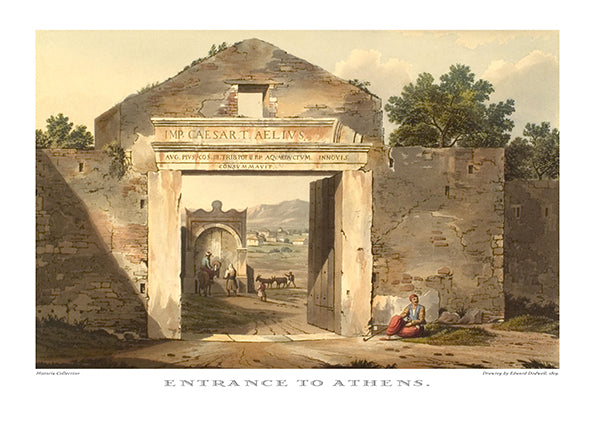 Edward Dodwell: Entrance to Athens-Ariston Books