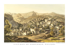 Edward Dodwell: Village of Portaria, Pelion-Ariston Books