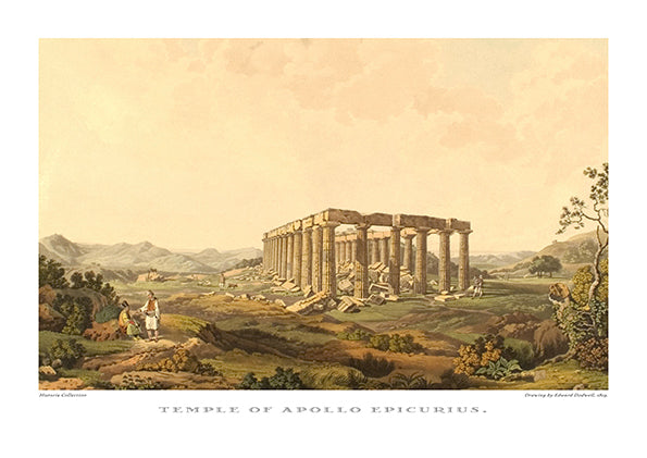 Edward Dodwell: Temple of Apollo Epicurius