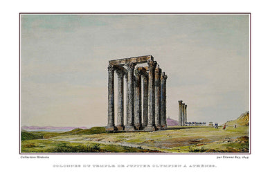 Étienne Rey: Colonnes du Temple de Jupiter OLympien à Athènes-Ariston Books