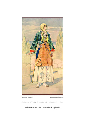 Nicholas Sperling: Greek traditional costume, Peasant woman's costume, Kalymnos-Ariston Books