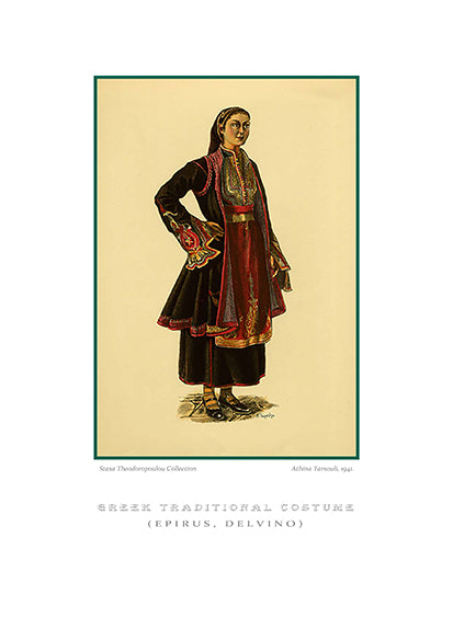 Athina Tarsouli: Greek traditional costume, Delvino of Epirus-Ariston Books