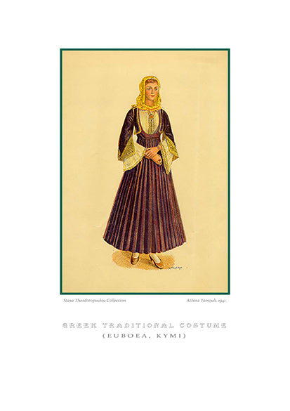 Athina Tarsouli: Greek traditional costume, Kymi of Euboea-Ariston Books