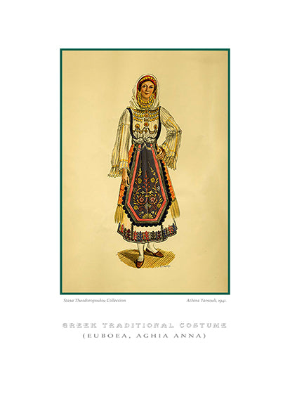 Athina Tarsouli: Greek traditional costume, Aghia Anna of Euboea-Ariston books