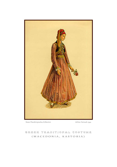 Athina Tarsouli: Greek traditional costume, Kastoria of Macedonia-Ariston Books