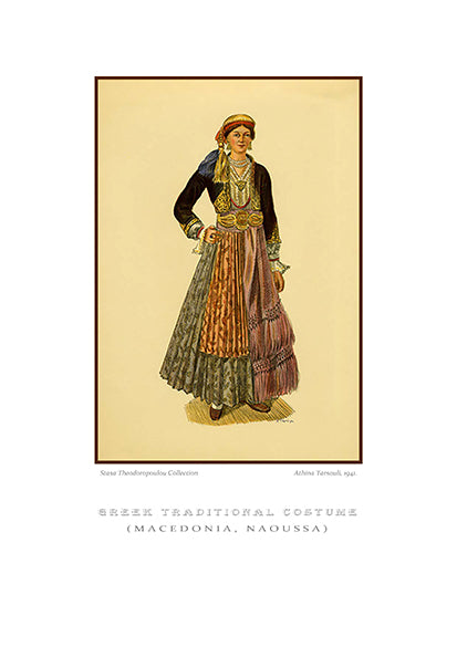 Athina Tarsouli: Greek traditional costume, Naoussa of Macedonia-Ariston Books