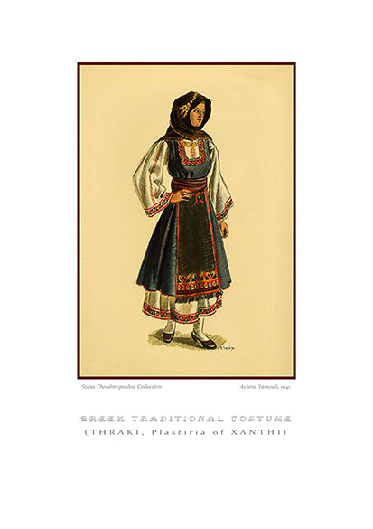 Athina Tarsouli: Greek traditional costume, Plastiria of Xanthi, Thrace-Ariston Books