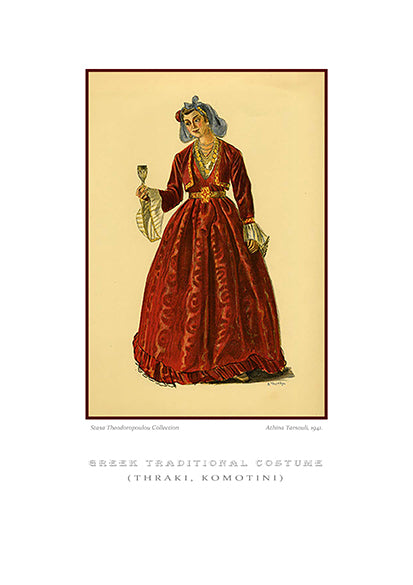 Athina Tarsouli: Greek traditional costume, Komotini of Thrace-Ariston Books