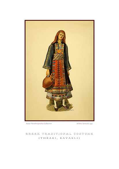 Athina Tarsouli: Greek traditional costume, Kavakli of Thrace-Ariston Books