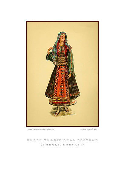Athina Tarsouli: Greek traditional costume, Karyati of Thrace-Ariston Books