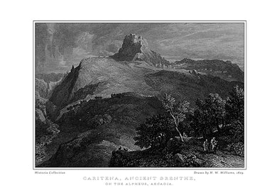 H. W. Williams: Caritena, ancient Brenthe, on the Alpheus, Arcadia-Ariston Books