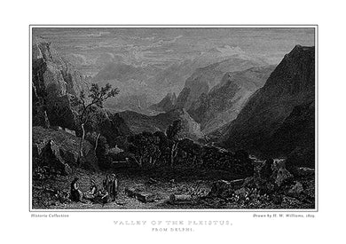 H. W. Williams: Valley of the Pleistus, from Delphi -Ariston Books