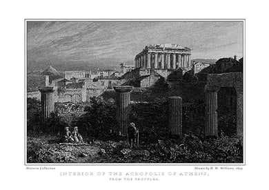 H. W. Williams: Interior of the Acropolis of Athens, from the Propylaea-Ariston Books