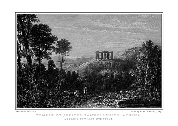 H. W. Williams: Temple of Jupiter Panhellenius, Aegina, looking towards Hymettus-Ariston Books