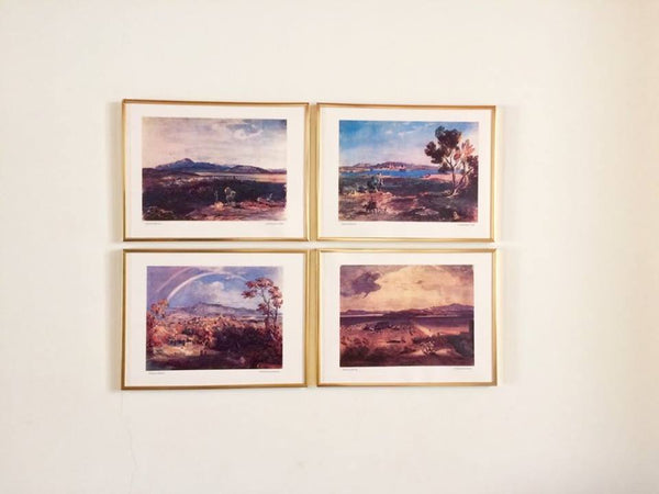Thebes, Corfu, Kalamata and Eleusis by Carl Rottmann - Set of Four Unframed Reprints