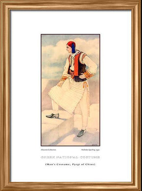 Nicholas Sperling: Greek traditional costume, Man's costume, Pyrgi of Chios