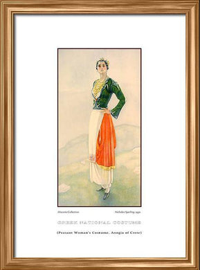 Nicholas Sperling: Greek traditional costume, Peasant woman's costume, Anogia of Crete