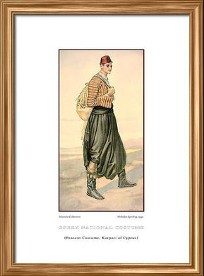 Nicholas Sperling: Greek traditional costume, Peasant costume, Karpaci of Cyprus