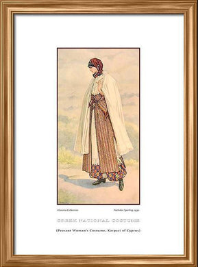 Nicholas Sperling: Greek traditional costume, Peasant woman's costume, Karpaci of Cyprus